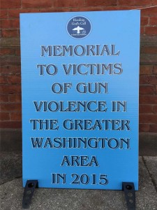 memorial to victims of gun violence greater washington dc 2015